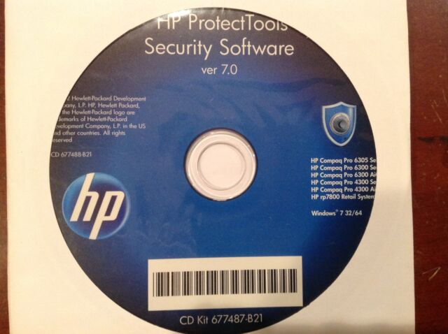 NEW Windows 7 Genuine HP DVD blue protect tools security software 7 0