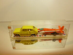 MAJORETTE-323-PLANEUR-FIAT-127-GLIDER-YELLOW-1-55-VERY-GOOD-IN-BOX