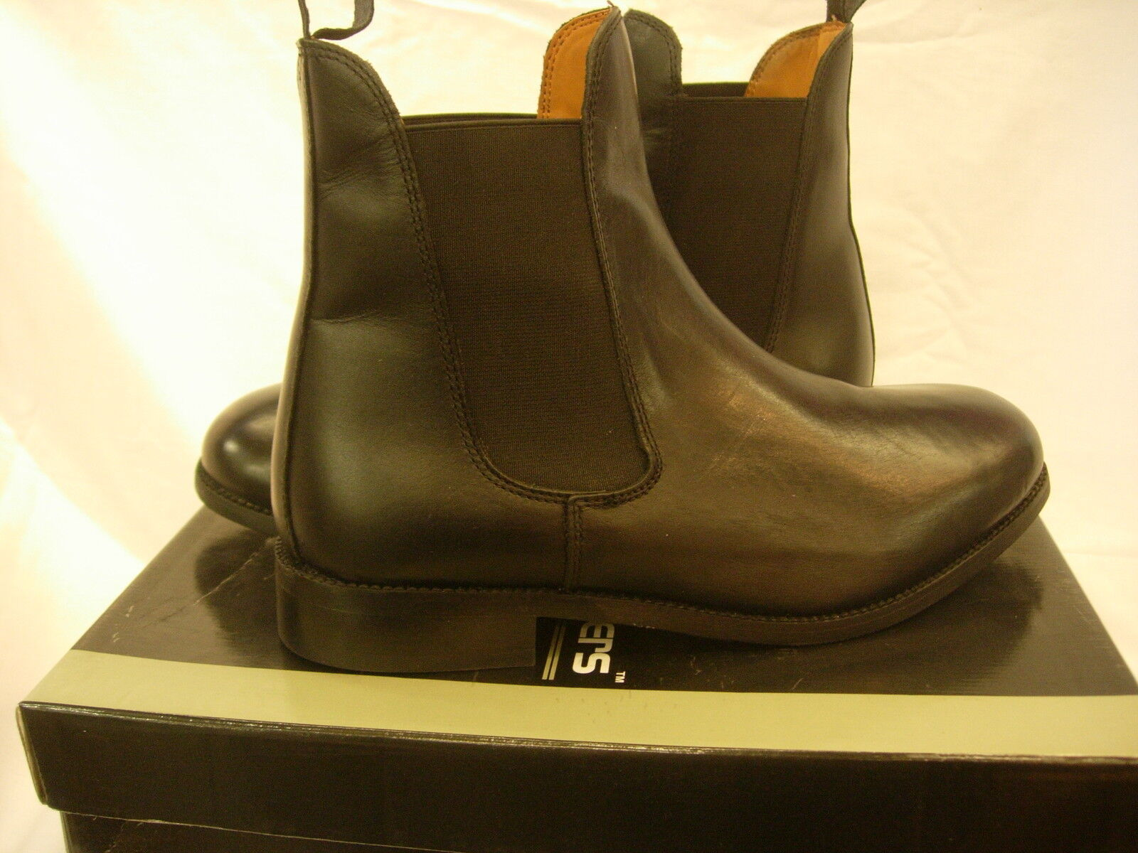 UNISEX BLACK LEATHER SLIP PULL ON RIDING HORSE RIDING ON JODHPUR CHELSEA EQUESTRIAN Stiefel 5d54c3