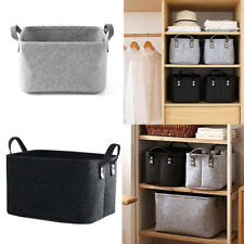 Container Foldable Box Felt Storage Basket Sundries Container Clothes Organizer