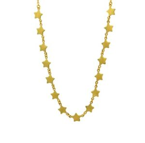 14k-Yellow-Gold-Over-925-Sterling-Silver-Stars-Necklace