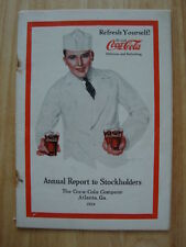 RARE 1923 Coca-Cola Coke Annual Report Warren Buffett Berkshire Hathaway Atlanta