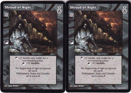 Shroud of Night x2 Mixed 3rd Edition//Sabbat War//Sabbat Edition V:TES VTES