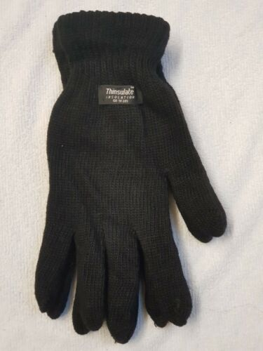 3m Thinsulate Thermal Winter Warm Men/'s Black Full Finger Gloves