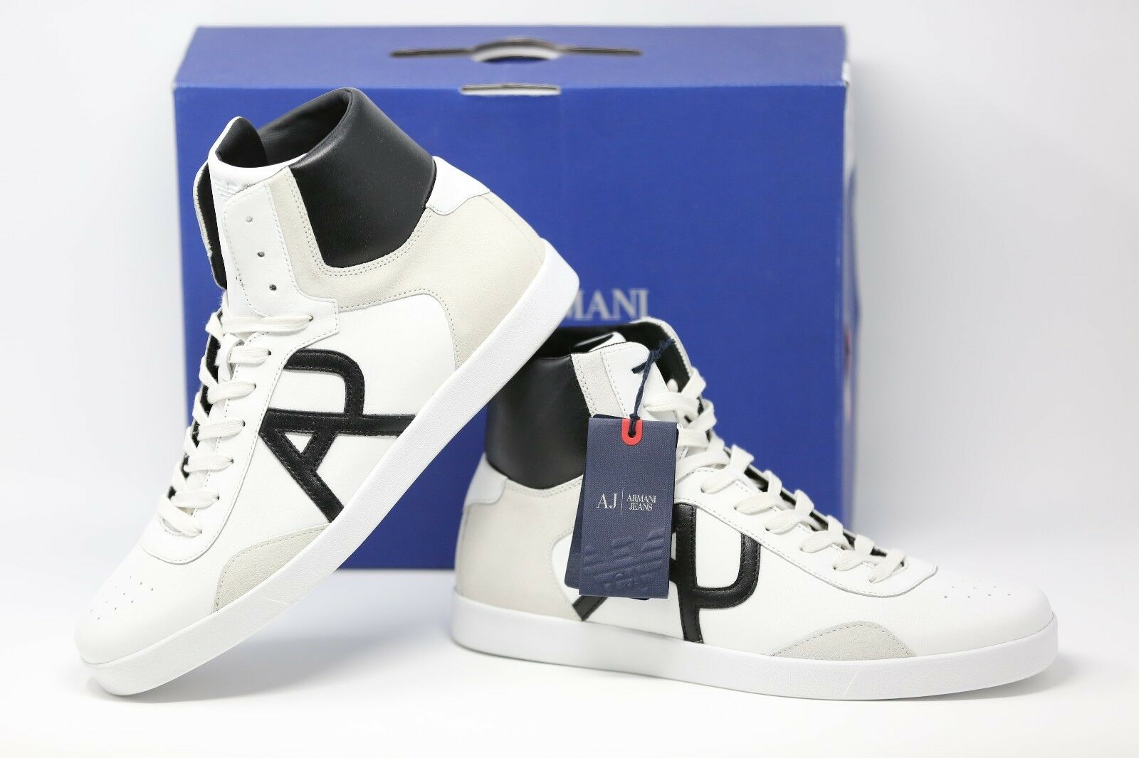 Armani Jeans Jeans Jeans Y1 Bianco Scarpe Bianche Tg EUR 45 ebace1