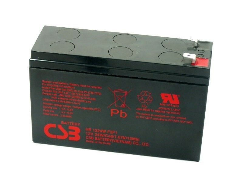 Akku kompatibel CP1260 CP1260SC 12V 24W AGM Blei wartungsfrei High Rate Notstrom   Komfort