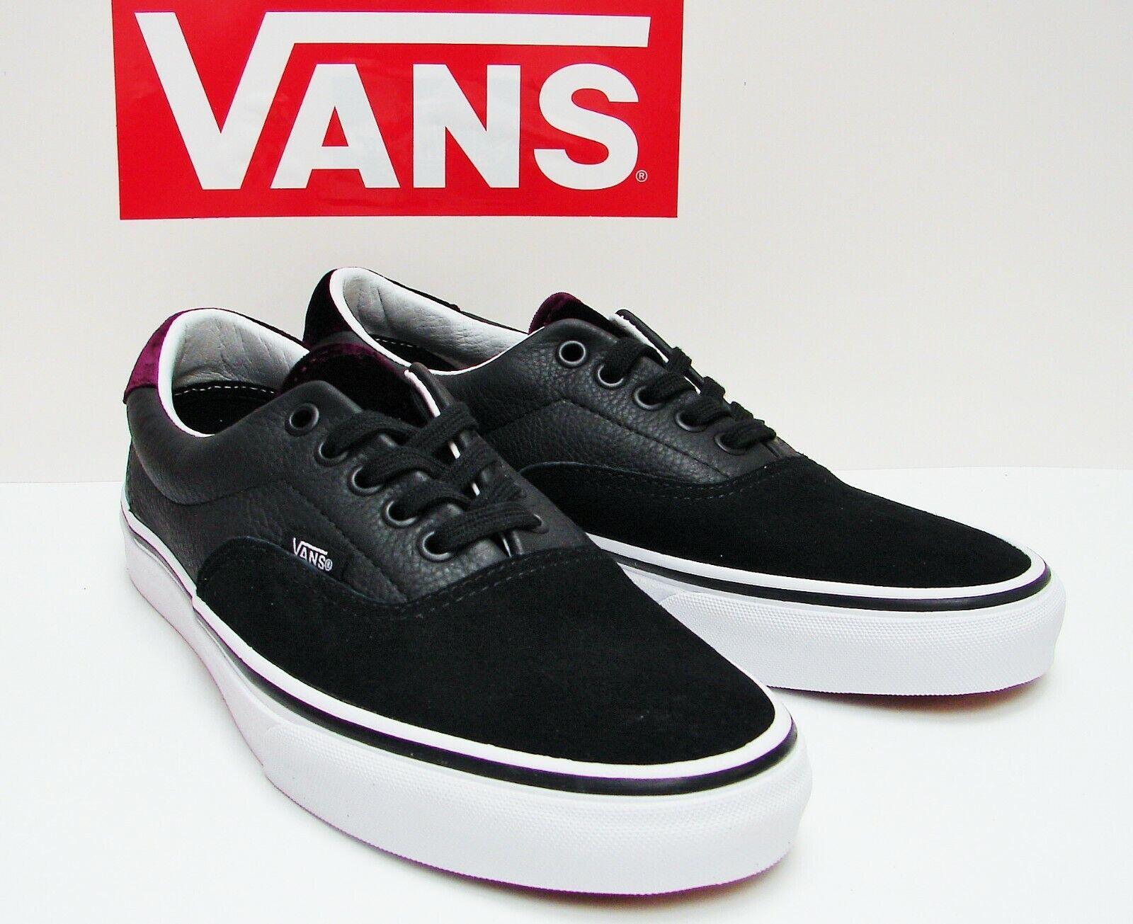 VANS Era 59 (Velvet) Black  Red VN-0A38FSQV2 Men's size  11