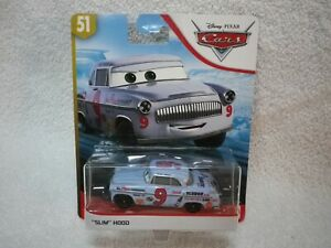 2019 Disney Pixar Cars Movie Slim Hood 9 Blue Race Car Ebay