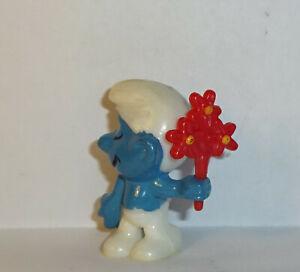 SCHUCHTERNER-SCHLUMPF-mit-Blumenstrauss-E-D-D-S-Schluempfe-ORIGINAL