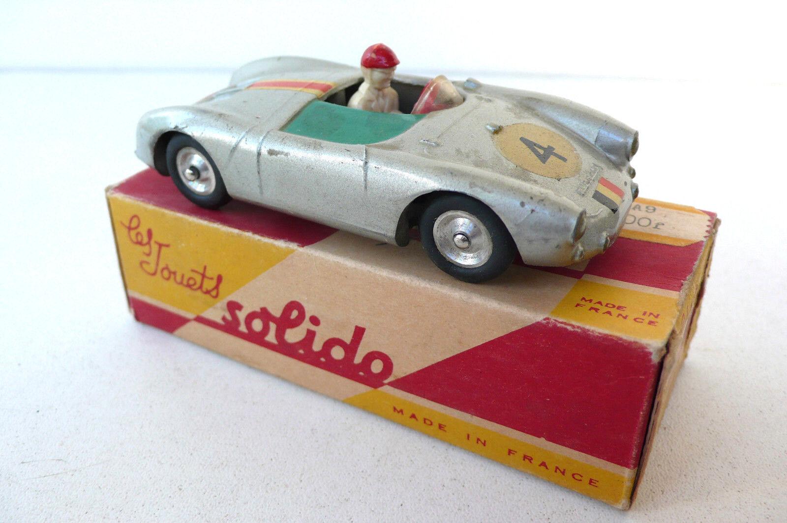 SOLIDO  I43è  PORSCHE SPYDER 1500RS  1957  SÉRIE 100  BON ÉTAT  BOITE D'ORIGINE