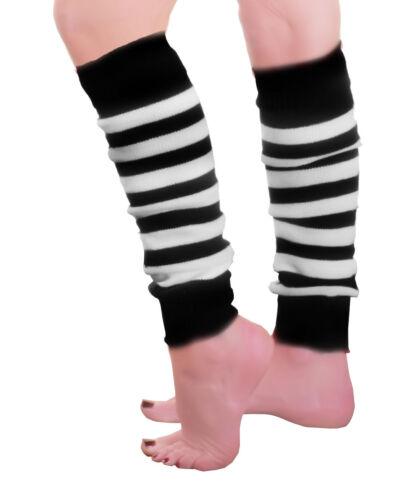 ADULT 80S DANCE PARTY STRIPED CAMOUFLAGE LEG WARMERS LEGWARMER TUTU FANCY DRESS