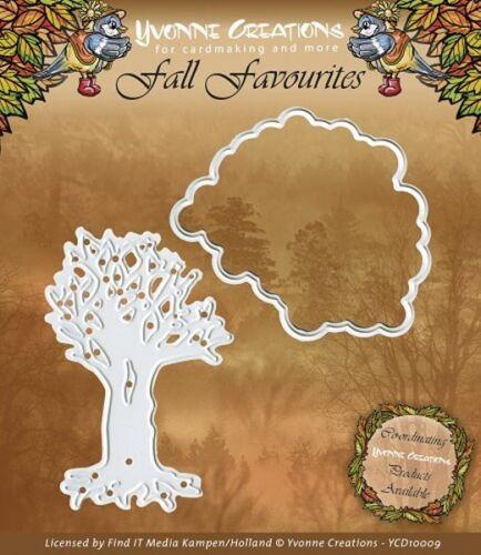 Árbol en el otoño-stanzschablone Yvonne Creations ycd10009