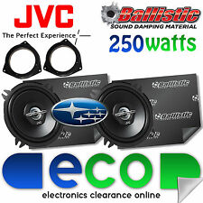 Subaru Impreza JVC 13cm 500Watts 2 Way Front Door Car Speakers & Sound Deadening
