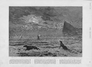 1893-Antique-Print-GIBRALTAR-Smuggling-Frontier-Guards-Shooting-Dogs-329
