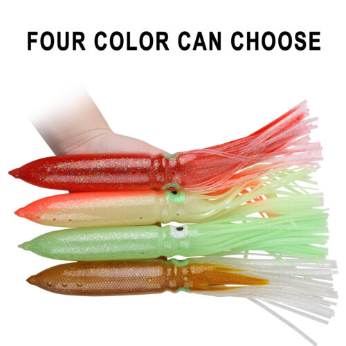 """11.8/""""//30cm Soft Octopus Squid Skirts Lure Bulb Trolling Hoochies Saltwater Lures"""