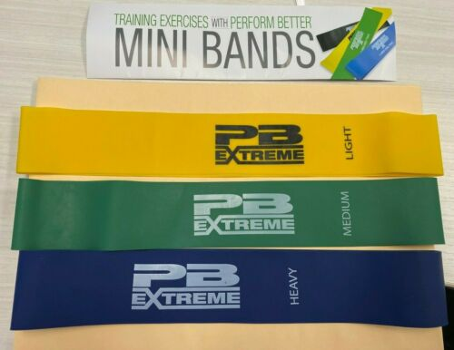 set of 3 Exercise Resistance Mini Bands Perform Better Extreme Unused New