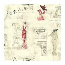 York Wallcoverings Europa II Weekend In Paris Prepasted Wallpaper KW7531