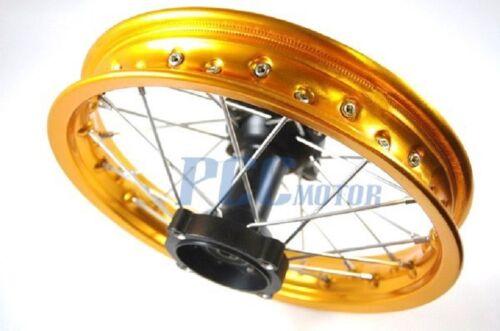 "12/"" GOLD REAR RIM WHEEL HONDA SDG COOLSTER 107 110 125cc PIT BIKE V RM07Y"