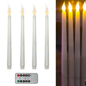 11-034-4-Flameless-LED-Battery-Operate-Taper-Candle-Candlestick-Lamp-Remote-Control