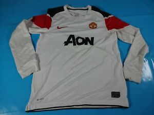 Authentic-VINTAGE-Manchester-United-2010-11-lunghi-SOCCER-FOOTBALL-SHIRT-JERSEY