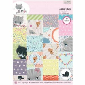 Docrafts-Papermania-A4-Paper-Pack-Little-Meow-craft-x42-sheets-scrapbooking