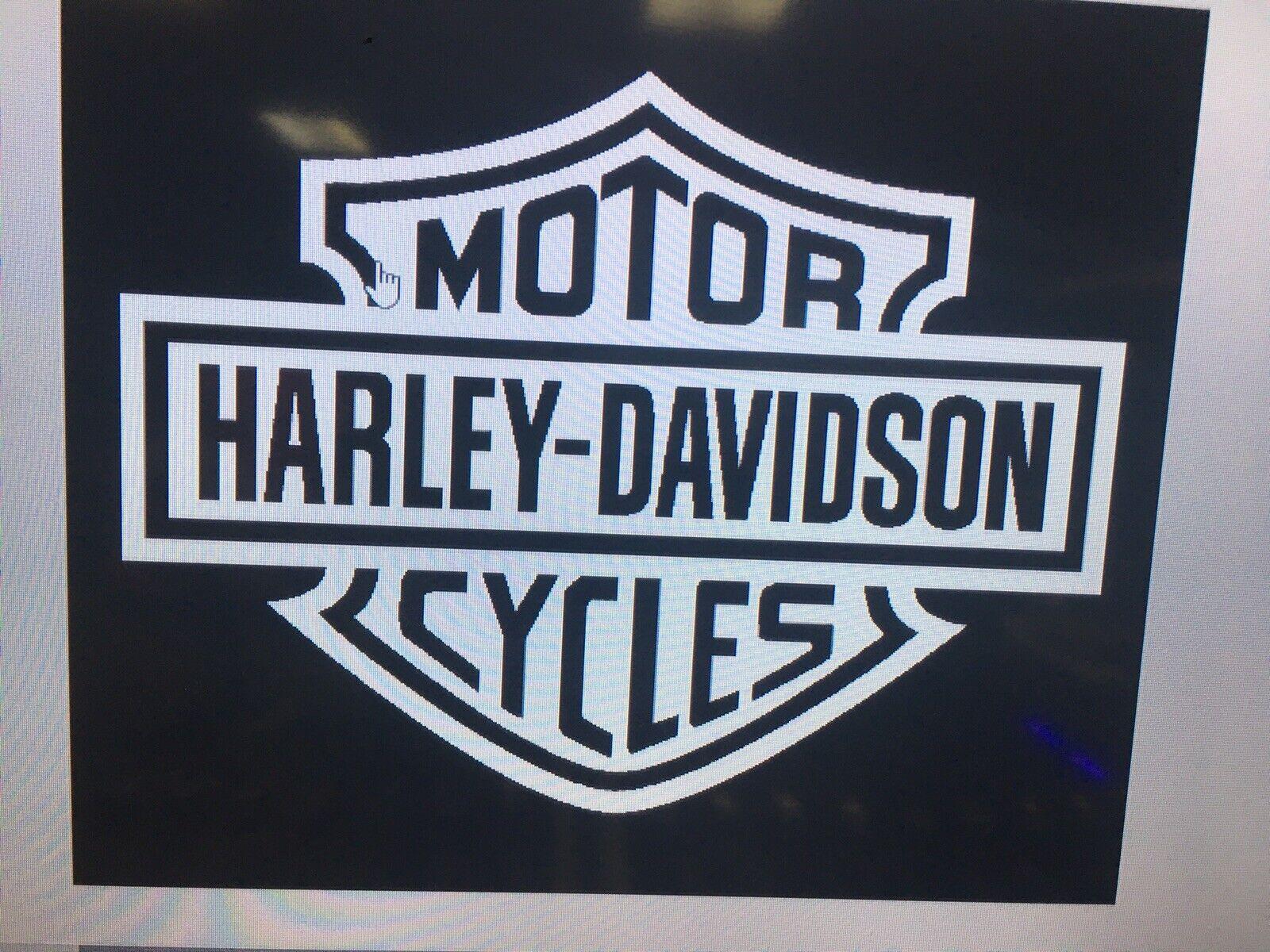Motorcycle Vehicle Window Wall Car Truck Vinyl Decal Harley Davidson Sticker