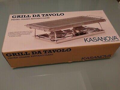 Grill Da Tavolo Kasanova Piastra Ollare Rettangolare Ebay