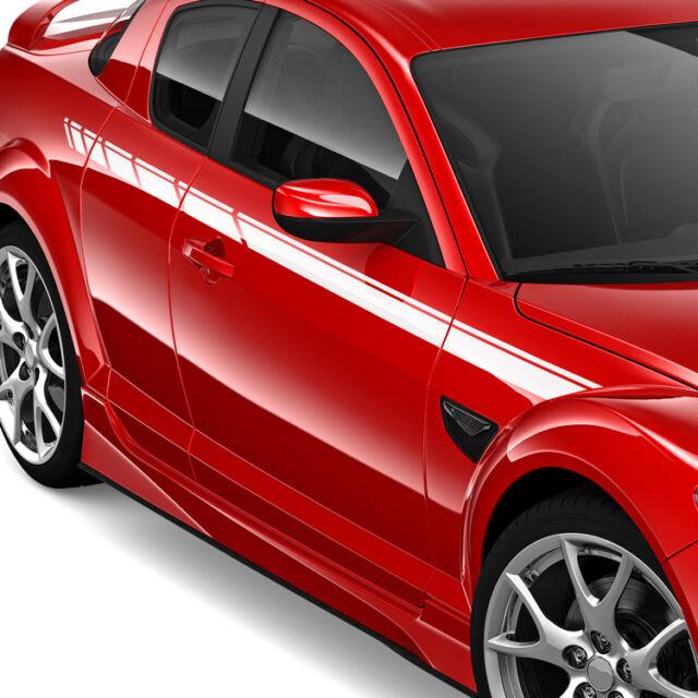 2x Seitenstreifen Aufkleber Streifen Doppelstreifen Dekorstreifen Auto #1222