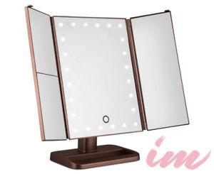 Illuminate Me 3 Way Makeup Mirror W Led Lights Rose Gold
