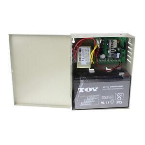 Control-Power-Supply-w-12V-7A-Backup-Battery-for-Electric-Lock-Deadbolt-Strike
