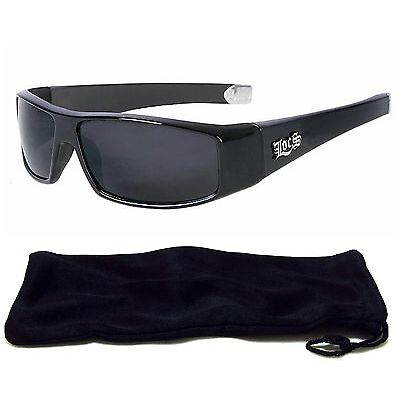 Locs Authentic Sunglasses Super Dark Lenses Motorcycle OG Style Black NEW