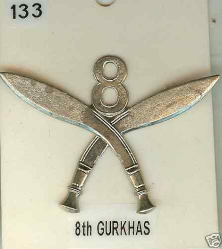 No 133 Cap Badge 8th Gurkhas