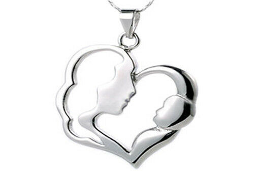 Mother and Child Pendant Gift For Mom -Stainless Steel Pendant w/ chain necklace