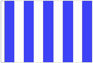 Royal Blue And White Striped 3/' x 2/' Sleeved Flag