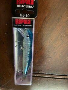 Rapala-Husky-Jerk-Rattlin-039-Suspending-Glass-Blue-Minnow-HJ10-GBM