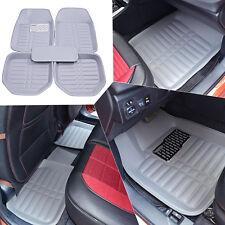 Gray Universal Floor Mat Front & Rear Liner Waterproof All Weather US Stocks 5pc