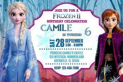 Frozen 2 Birthday Party Invitation Printable Ebay