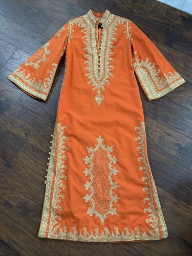 Vintage Embroidered Bedouin Caftan Oriental Syria