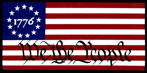 Wholesale Lot of 6 Betsy Ross 1776 We The People Bumper Sticker
