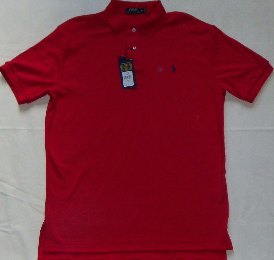 NEW Mens POLO Ralph Lauren Classics RL Mesh Polo Shirt RL 2000 Red MSRP