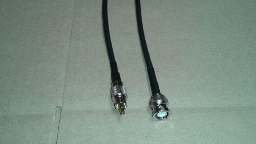 US MADE   RG-58  RCA  Male   to   BNC Male  50 ohm  coax cable  3 FT