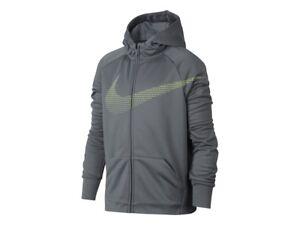 47d390d8b7 Nike Boy's Therma Dri-Fit Training Full-Zip Hoodie Jacket Coat Cool ...