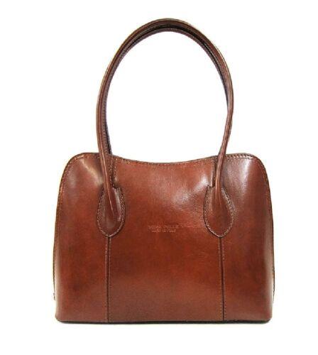 Ladies Handbag Italian Leather Vera Pelle Womens Tote Top Handle Shoulder Bag