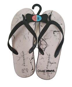 Flip Flops White Printed Summer Slip