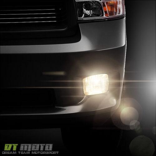 Smoked 2009-2012 Dodge Ram 1500 10-18 2500 3500 Bumper Fog Lights w//Bezel+Bulbs