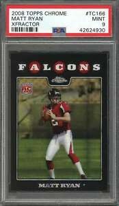 2008-topps-chrome-xfractor-tc166-MATT-RYAN-atlanta-falcons-rookie-card-PSA-9