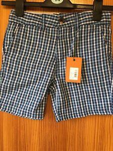 Boys-Ben-Sherman-Checks-Blues-Shorts-Age-8-9-Years