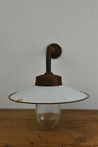 Antike Emaille Außen Wand Lampe