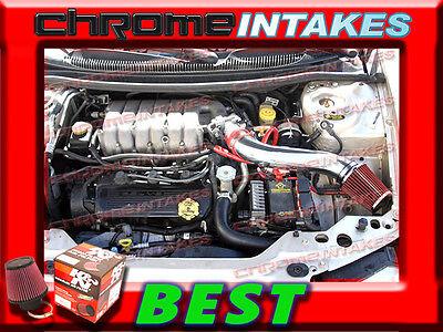 Filter For 95-98 Stratus BLACK Short Ram Air Intake Kit 95-00 Cirrus 2.5L V6