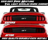 2015 2016 2017 Ford Mustang Dark Smoke Tail Light Overlay Tint American Muscle 2
